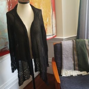 Crochet black BCBG cardigan